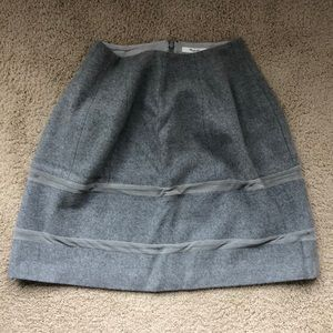 Madewell Turnout Wool & Mesh Flare Skirt